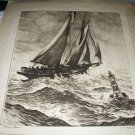 R.H.PALENSKE-HEAVY SEAS-Seaside Illustration Clipper Ship