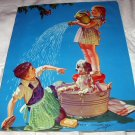 1948 R.JAMES STUART Vintage Print-DOGGONE YOU!Children Bathing Dog