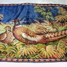 Italian Woven Multicolored LARGE Tapestry Rug-Pair of Pheasant Birds