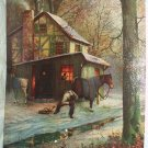 VILLIAGE SMITH-BLACKSMITH-Vintage Lithograph Print