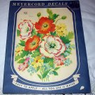 VINTAGE UNUSED MEYERCORD DECAL#939-A,Spring Flower Bouquet
