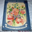 Vintage MEYERCORD DECALS-#X502-A,Unused Bouquet Of Pink Roses