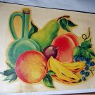 Vibrant Unused MEYERCORD DECAL TRANSFER-#X-107B,Grouping Fruit and Wine