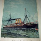 Antique Print-FURST BISMARCK-Sailing Vessel Out To Sea