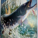 THE MUSKELLUNGE-Vintage Cabin Art Themed Lithograph Print