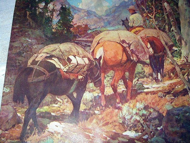 LURE OF THE ROCKIES-FRANK TENNEY JOHNSON-Vintage Artwork Illustration