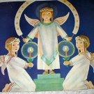 Christmas Angels Rejoicing Vintage Magazine Artwork Illustration