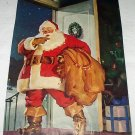 Santa Claus Visiting Leaving Toys Vintage Magazine Artwork Illustration