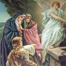 Three Women At The Tomb-Mary, Angel Religious Vintage Print
