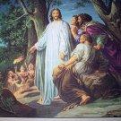 Jesus In Gethsemane Vintage Lithograph Print Vibrant