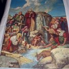 Great Miracle of MOSES Vintage Lithograph Calendar Artwork-Artist: Robert Jones