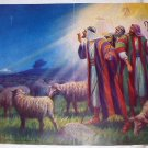 3 Wise Shepherd Men Seeing Star in the Sky Vintage Lithograph Print-Artist: George A. King