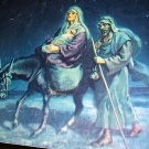 1941 The Flight Into Egypt Vintage Lithograph Print-Mary, Joseph, and Baby Jesus On Burro