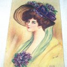 REYNOLDS-Signed Unused Postcard-Helen-Lady with Violets