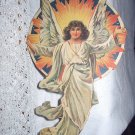 Antique Victorian Larger Die Cut Scrap-Angel in Light