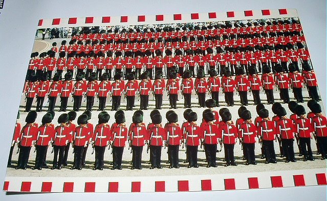 Used LONDON Postcard-Trouping the Colour-Guards on Parade