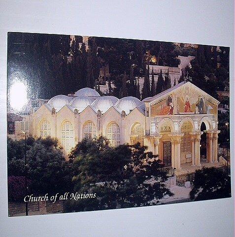 Church of all Nations-Jerusalem-Beautiful Unused Larger Postcard
