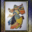 LARGE Vintage Diecut Image-Peasant Woman Dancing