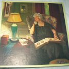 Lonely Older Widow Remembering Her Past-Signed Vintage Illustration