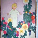 Sweet Little Girl,Christmas Tree Decorations-Vintage Magazine Artwork Print