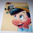 Commemoritive Unused Prepaid Postcard-Pinocchio and Jiminy Cricket Stamp