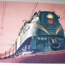 Commemorative Unused Prepaid Postal Card-Congressional GG-1 Locomotive Stamp