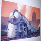 Commemorative Unused Prepaid Postal Card-The 20th Century Limited J-3a Steam Locomotive Stamp
