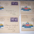 1944 First Day Covers-Four UNION PACIFIC Diamond Anniversary Golden