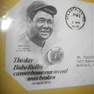 Breaking BABE RUTH'S Home Run Record COMMEMORATIVE First Day Cover1974  Issue