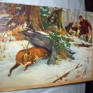 Fox Hunting Lithograph - RALPH CROSBY SMITH-Hunter, Rifle,Hunting Dogs