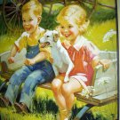 Dillon-Two Little Children,Dog Playing Going To Town Print