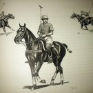 Polo The Game-Polo Player on Horse-Edwin Megargee Original Vintage Lithograph Print