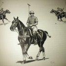 Polo The Game-Polo Player on Horse-Edwin Megargee Original Vintage Lithograph Print