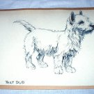Adorable Terrier Dog-Vintage Lithograph Print
