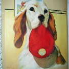 1938 Vntg Magazine Cover Artwork Illustration-Jack Murray-Hunting Dog with Red Hat