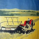 F.V. Carpenter-Farm Tractor Haying-Vintage Magazine Artwork