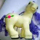 Yellow Large Horse with Purple Hair,Gently Used