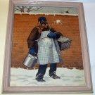 Older Black Man Snowball Attack Artist A B Frost Original 1904 Colliers Cover Art Print