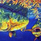 Caribbean Tropical Fish Mahi Mahi Artist Jean Baptiste Lrg Lithograph Limited Edition Pencil Signed
