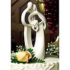 Circle of Love Bride & Groom Wedding Cake Topper  Top Figurine Ornament