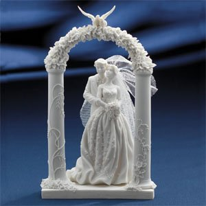 Beautiful Bride & Groom Wedding Arch Resin Topper  Top