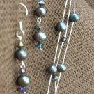 Sterling, Pearl, and Swarovski Crystal Set