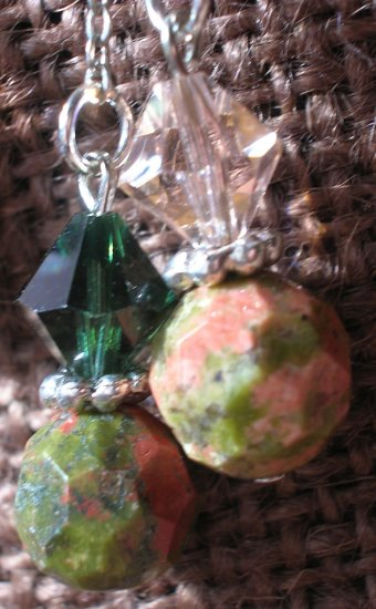Unakite and Swarovski Double Pendulums