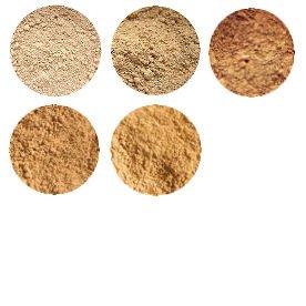 Natural Mineral FOUNDATION Powder SAMPLES SET Light & Medium Shades