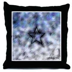 New Throw Pillow with Crazy Star Art