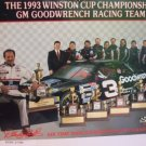 Dale Earnhardt 8 x 10 Color 2 Side Print 1993 6 Time Winston Cup Championship