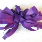 Purple Loopy Curly Hair Bow Alligator Clip Barrette