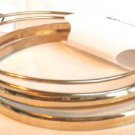 Set of 12 Bangle Bracelets Gold Textured Silver Tone Nice Variety