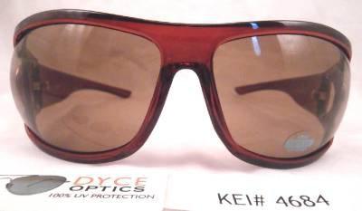 DYCE OPTICS Large Designer Oversized Fashion Sunglasses Red Brown NWT
