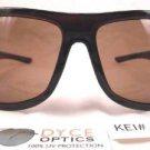 DYCE OPTICS Large Designer Oversized Fashion Sunglasses Brown NWT